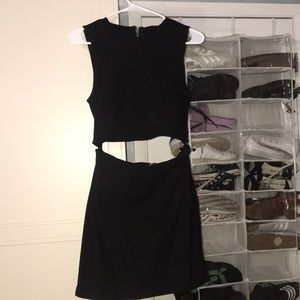 Urban Outfitters black cut out dress